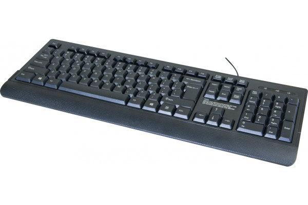 basic qwerty usb keyboard black with 166 symbol 225220