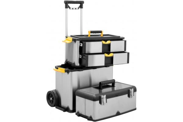 caisse outils aluminium sur roulettes 818121 votre grossiste connectique sp cialis cablage. Black Bedroom Furniture Sets. Home Design Ideas