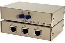 Data switch with RJ45 ports and push buttons - 2 ports