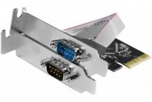 Carte PCI-Express 1X - 2 ports série RS232 Low Profile